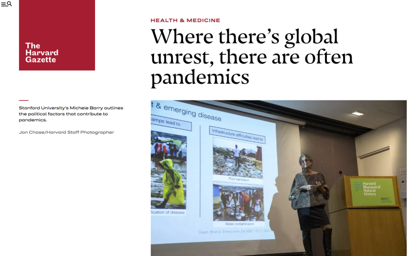 Outbreak Week Opens With Talk on Conflict andEpidemics